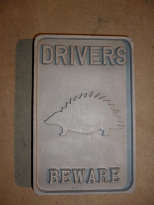 Post Mounted Drivers Beware of Hedgehogs - Small