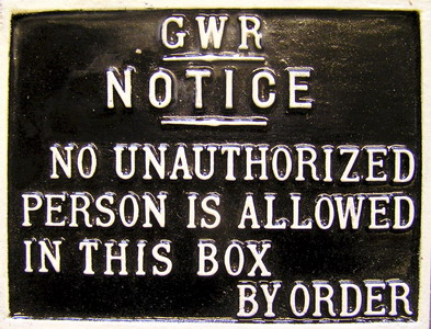 GWR S/Box Notice (Large)