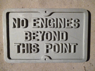 No Engines Beyond this Point