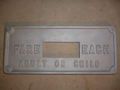 Passenger Fare Sign - Large
