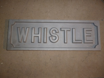 WHISTLE sign - Large
